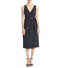 Kensie® Stretch Crepe Wrap Dress