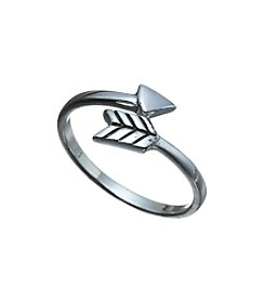 Marsala Arrow Bypass Ring