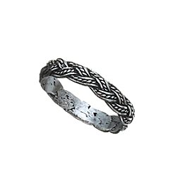 Marsala Braided Band Ring