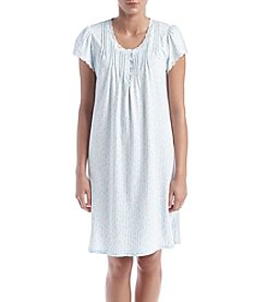 Miss Elaine® Short Sleeve Print Nightgown