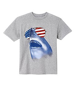 Exertek® Boys' 8-20 Americana Shark Tee