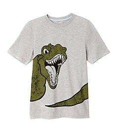 Seven Oaks Boys' 8-20 Short Sleeve Dino Tee with UV Color Changing Graphics