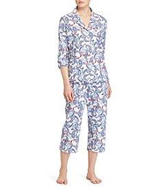 Lauren Ralph Lauren® Notch Collar Pajama Set