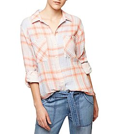 Sanctuary® Plaid Boyfriend Shirt