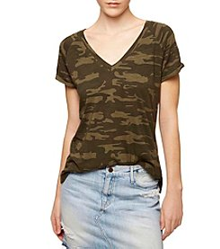 Sanctuary® Camo V-Neck Tee