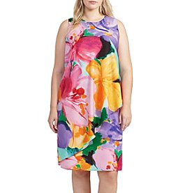 Lauren Ralph Lauren® Plus Size Floral Print Crepe Dress
