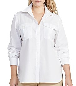 Lauren Ralph Lauren® Plus Size Cotton Broadcloth Shirt