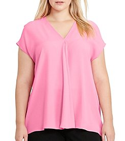 Lauren Ralph Lauren® Plus Size Georgette Short Sleeve Top
