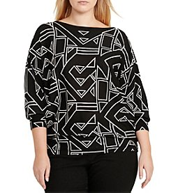 Lauren Ralph Lauren® Plus Size Geometric Print Sweater