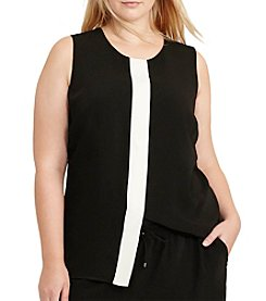 Lauren Ralph Lauren® Plus Size Two-Toned Crepe Top