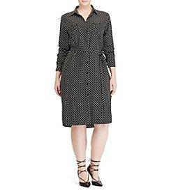 Lauren Ralph Lauren® Plus Size Foulard-Print Crepe Shirtdress