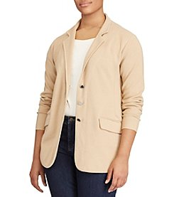 Lauren Ralph Lauren® Plus Size Three-Button Sweater Jacket