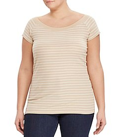 Lauren Ralph Lauren® Plus Size Striped Off-The-Shoulder Tee