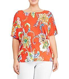 Lauren Ralph Lauren® Plus Size Floral-Print Linen Top