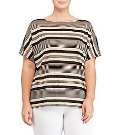 Lauren Ralph Lauren® Plus Size Striped Linen Top