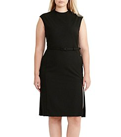 Lauren Ralph Lauren® Plus Size Mockneck Sheath Dress