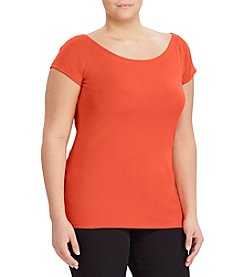 Lauren Ralph Lauren® Plus Size Cotton Off-The-Shoulder Tee