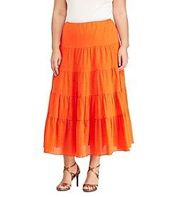 Lauren Ralph Lauren® Plus Size Cotton Gauze Maxiskirt