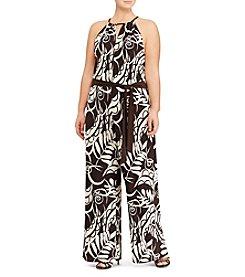 Lauren Ralph Lauren® Plus Size Jersey Wide-Leg Jumpsuit
