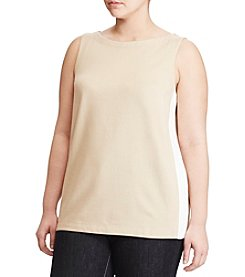 Lauren Ralph Lauren® Plus Size Cotton Jersey Tank