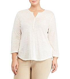 Lauren Ralph Lauren® Plus Size Whipstitched Linen Tunic
