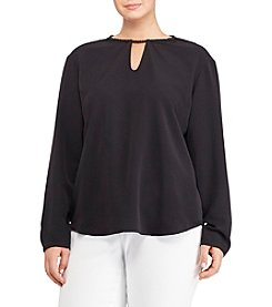 Lauren Ralph Lauren® Plus Size Crepe De Chine Top