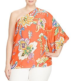 Lauren Ralph Lauren® Plus Size Floral Crepe One-Shoulder Top