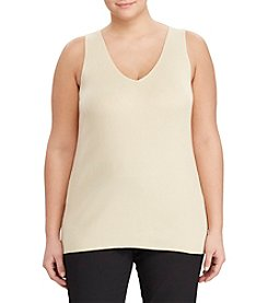 Lauren Ralph Lauren® Plus Size V-Neck Sleeveless Sweater