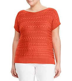 Lauren Ralph Lauren® Plus Size Cable Sweater