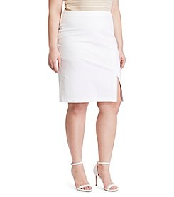 Lauren Ralph Lauren® Plus Size Side-Slit Pencil Skirt