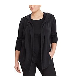Lauren Ralph Lauren® Plus Size French Terry Open-Front Jacket