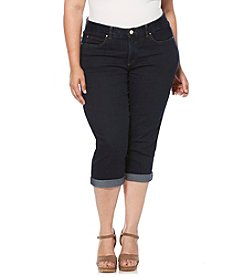 Rafaella® Plus Size Denim Cuffed Jeans