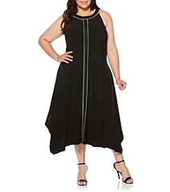 Rafaella® Plus Size High-Low Sharkbite Dress