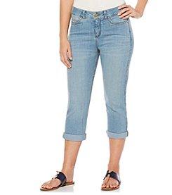 Rafaella® Petites' Denim Cuffed Jeans
