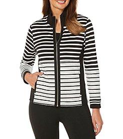 Rafaella® Petites' Parallel Striped Jacket