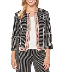 Rafaella® Petites' Striped Jacket With Trim
