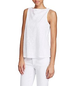 Lauren Ralph Lauren® Geometric-Embroidered Tank
