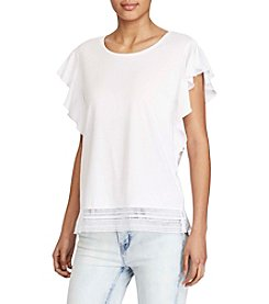 Lauren Ralph Lauren® Lace-Hem Stretch Tee