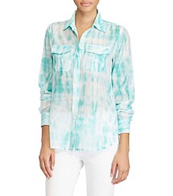 Lauren Ralph Lauren® Tie-Dye Button-Down Shirt