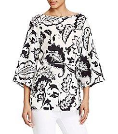 Lauren Ralph Lauren® Paisley-Print Crepe Tunic Top
