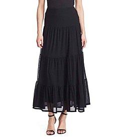 Lauren Ralph Lauren® Tiered Mesh Maxiskirt