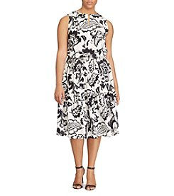 Lauren Ralph Lauren® Plus Size Floral-Print Keyhole Dress