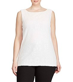 Lauren Ralph Lauren® Plus Size Geometric-Embroidered Tank