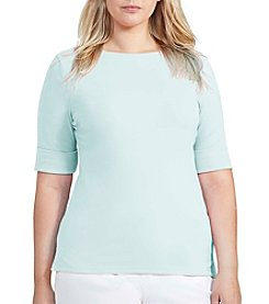 Lauren Ralph Lauren® Plus Size Stretch Boatneck Tee