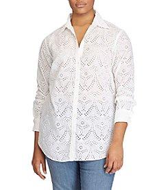Lauren Ralph Lauren® Plus Size Eyelet Shirt