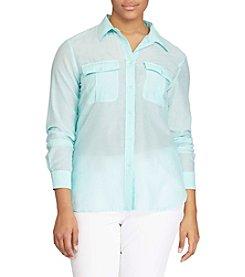 Lauren Ralph Lauren® Plus Size Button Down Shirt