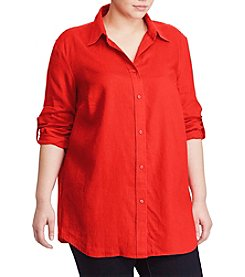 Lauren Ralph Lauren® Plus Size Roll-Cuff Shirt