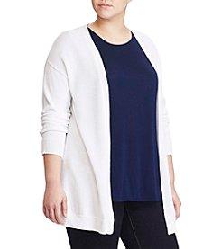 Lauren Ralph Lauren® Plus Size Rib-Back Open-Front Cardigan