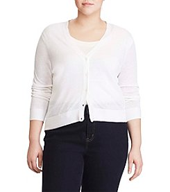 Lauren Ralph Lauren® Plus Size Eyelet-Back Cardigan