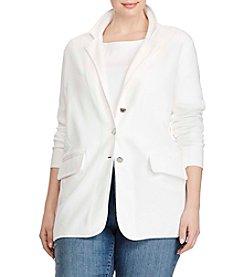 Lauren Ralph Lauren® Plus Size Three-Button Sweater Jacket